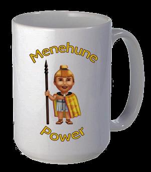 "Coffee Mug - White Porcelain - ""Menehune Power"""