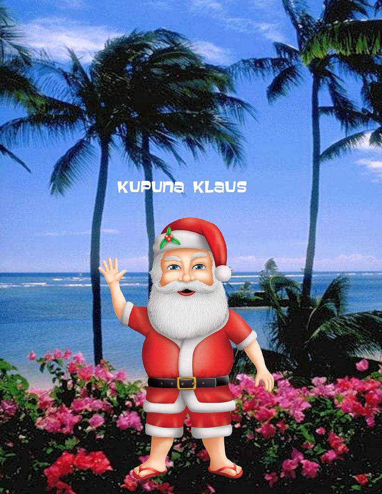 "Kupuna Klaus Poster - 8.5"" x 11"""