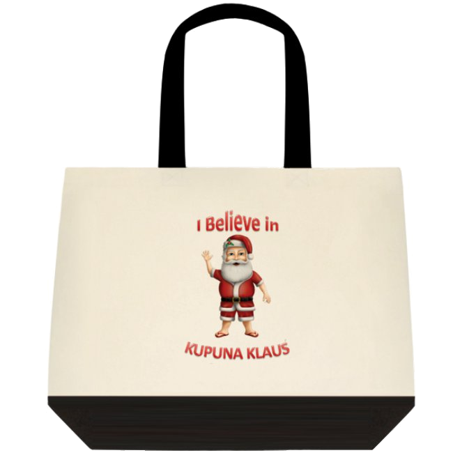 """I Believe in Kupuna Klaus (Traditional)"" Tote Bag"