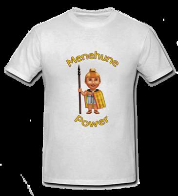 Menehune Power - White T Shirt - Size: Child Small