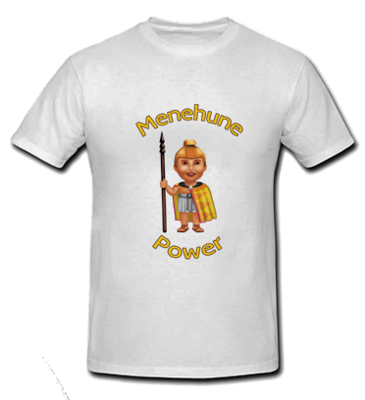 Menehune Power - White T Shirt - Size: Child Large