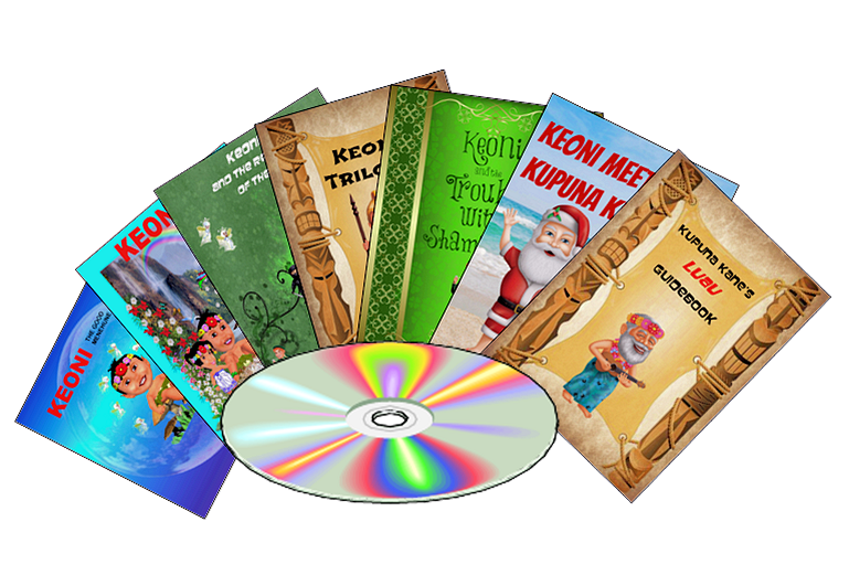 Keoni the Menehune Book Collection - Kindle Format on CD