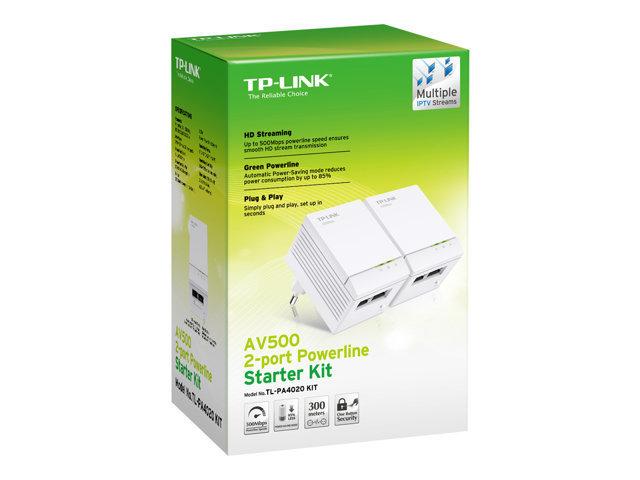 TP-Link AV500 2-port Powerline Starter Kit - TL-PA4020KIT