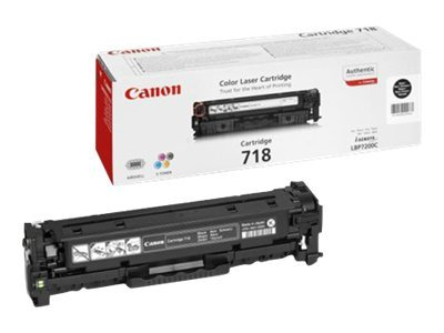 Canon 718 Black - Toner cartridge - 1 x black - 3400 pages
