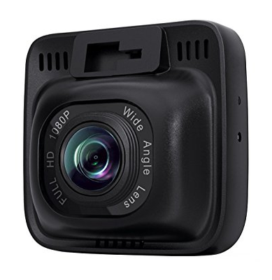 Aukey 1080p Dash Camera with 170° View angle - Full HD 1080P, 170° Wide Angle Lens, Night Vision, Motion Detection, G-Sensor, WDR and Loop Recording with 2 Ports Car charger