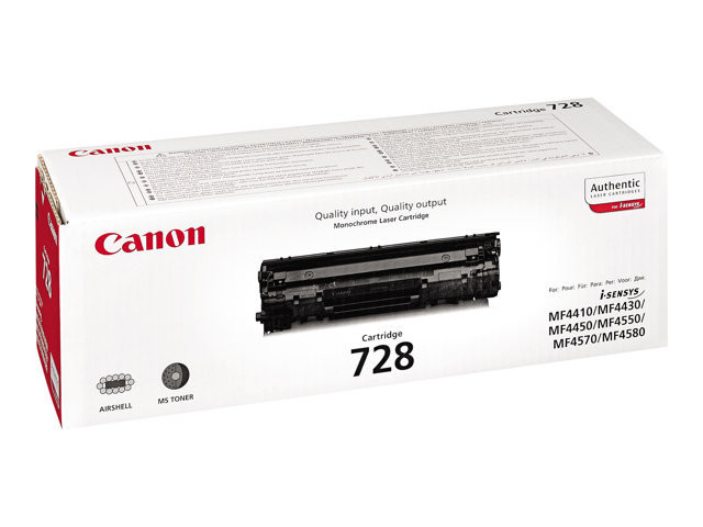 Canon CRG-728 - Black - original - toner cartridge - for i-SENSYS FAX-L150, L170, L410, MF4410, MF4450, MF4550, MF4730, MF4750, MF4870, MF4890