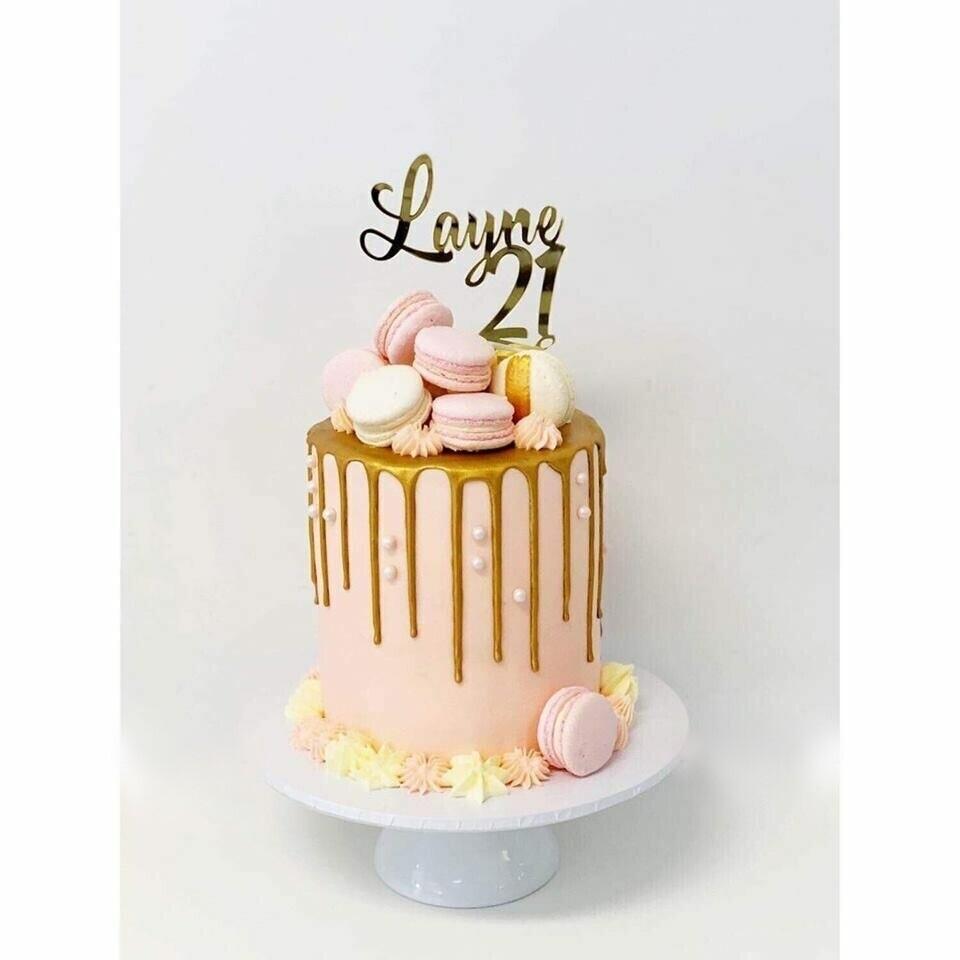 Surprising Gold Drip Macaron Cake Funny Birthday Cards Online Elaedamsfinfo