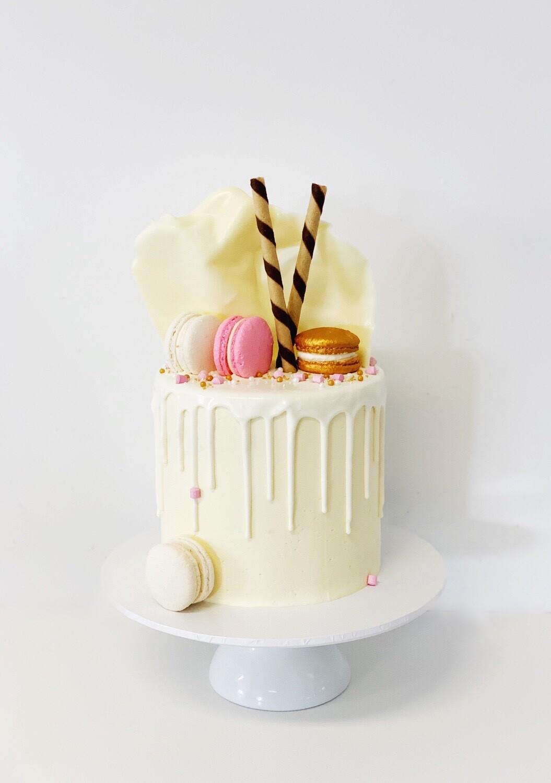 Fantastic Macaron Drip Cake Funny Birthday Cards Online Elaedamsfinfo