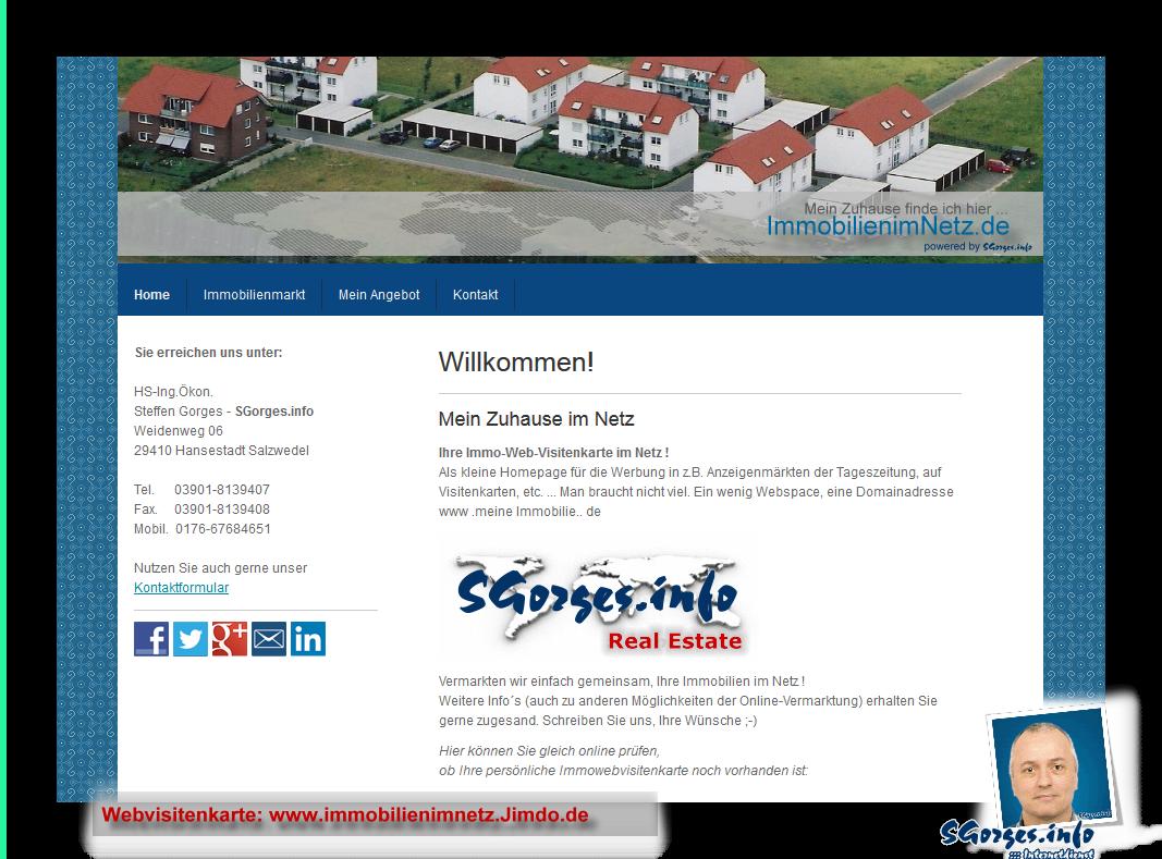 Meine Eigene Homepage Internet Web Visitenkarte