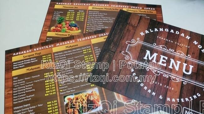 Cetak Menu Restoran (Premium )