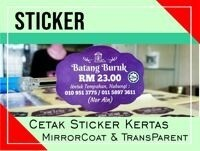 Cetak Sticker Kertas (MirrorCoat)