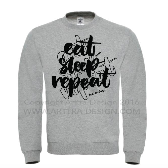 Sweater - Eat, sleep, repeat 00724