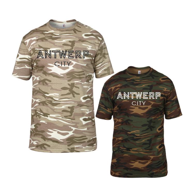 Stad Shirt met eigen stad - army 01261