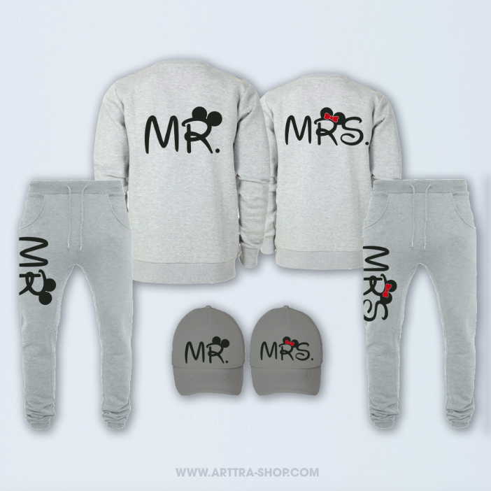 SET - Mr & Mrs - grijs 01315