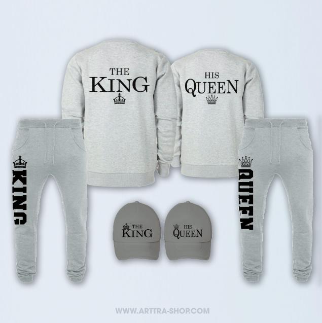 SET - The King & His Queen - grijs 01250