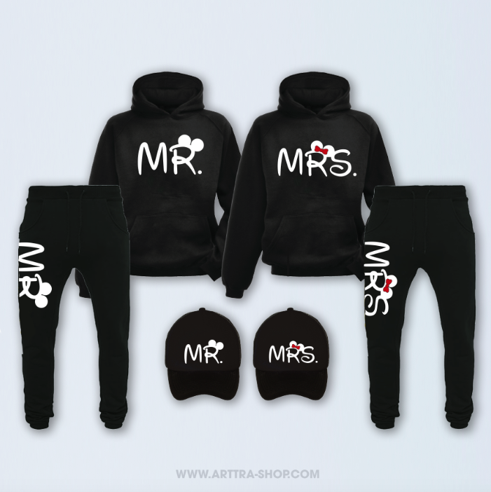 SET - Mr & Mrs - zwart 01314