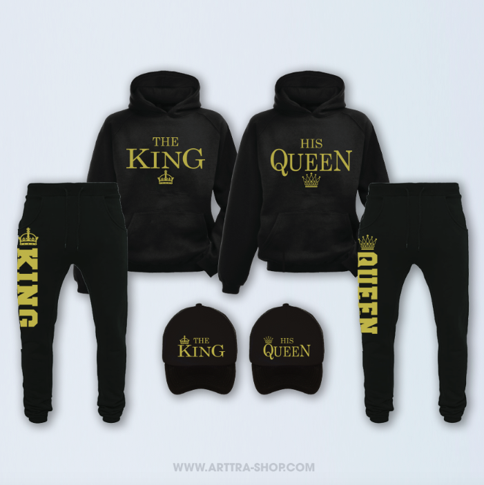 SET - The King & His Queen - zwart & goud 01251