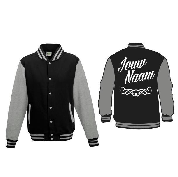 Baseball Jacket - zwart/grijs 01659