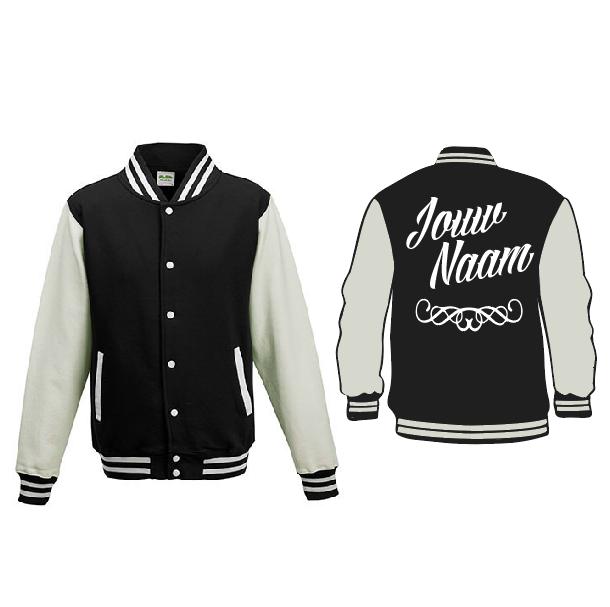Baseball Jacket - zwart/wit 01660