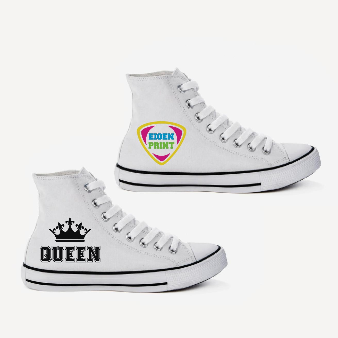 Sneakers met eigen opdruk - wit 01800