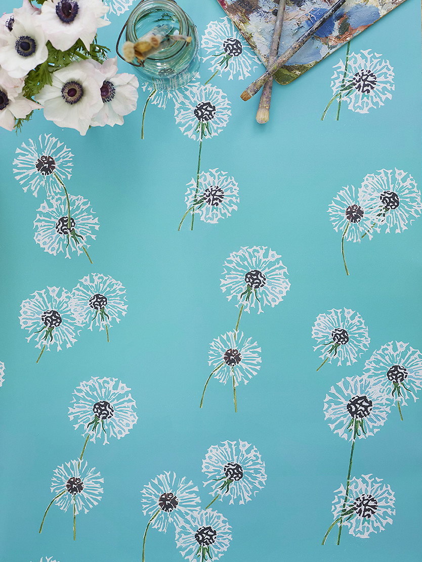 Wallpaper Dandelions On Aqua