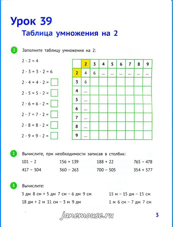 Математика 2 класс. Часть 2. Иванова Е.Ю.