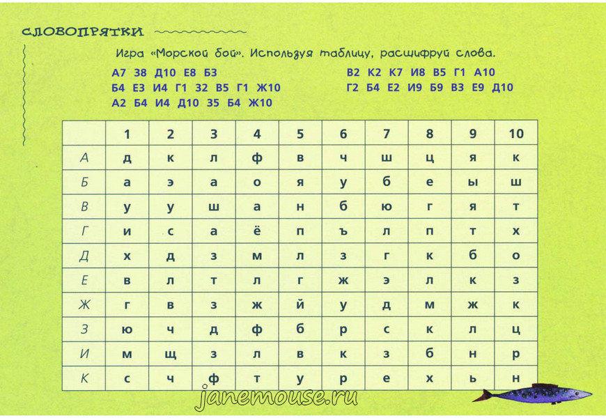 Словопрятки. Кравченко Наталья