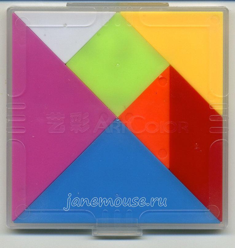 Танграм пластиковый (с заданиями) 00232