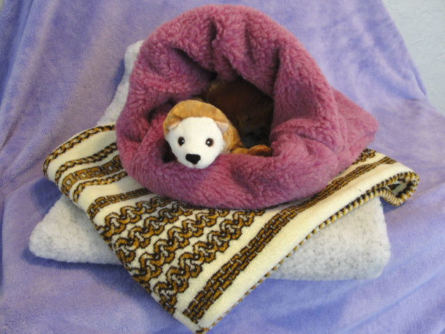 Ferret Berber Faux Fur Plush Sleep Sack FRT-BerbSack