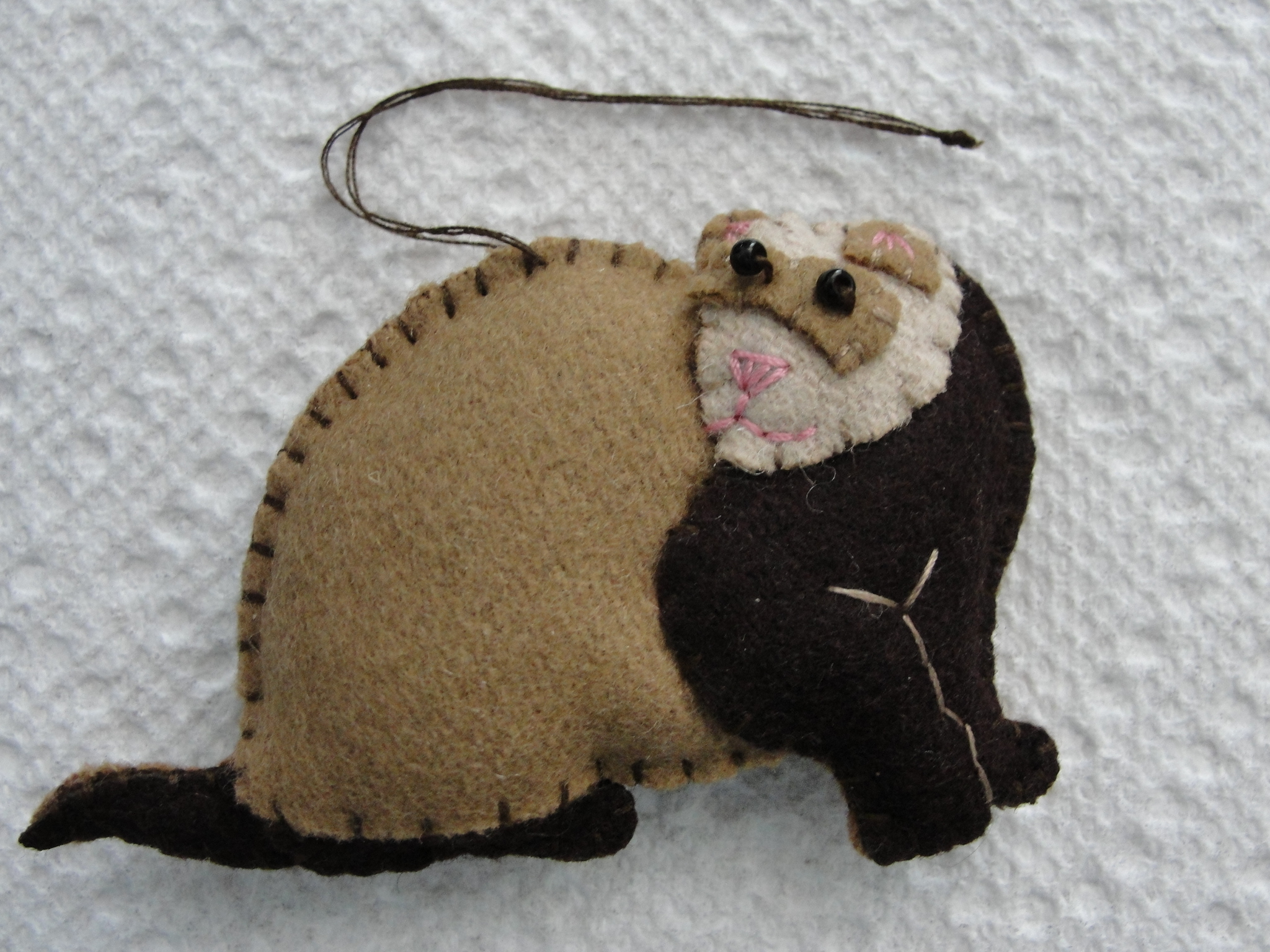 Chocolate Ferret Ornament