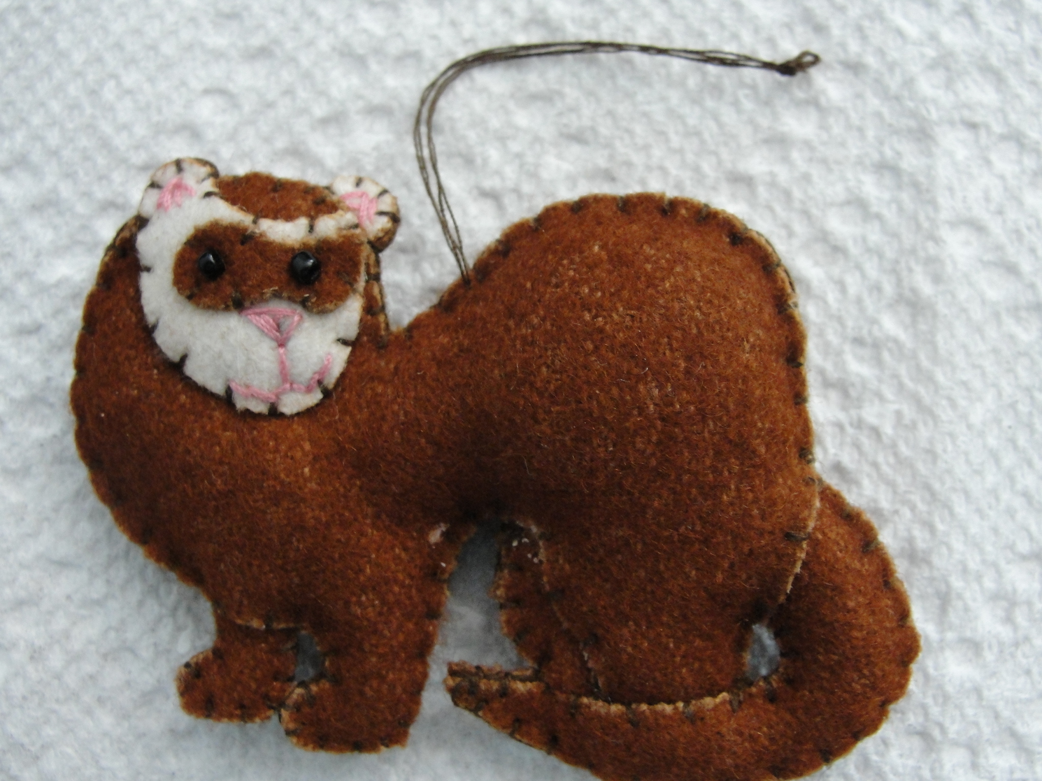 Cinnamon/Sable Ferret Ornament