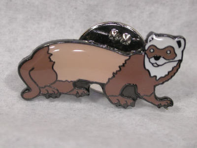 Sable Polecat Enamel Pin