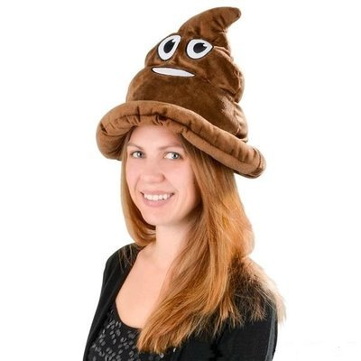 Emoji Poop Plush Hat For Ferret Owners
