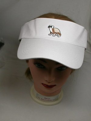 Embroidered Ferret Summer Sun Visor Cap Hat