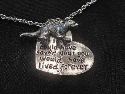 Pewter Ferret Memorial Necklaces - 3 Variations