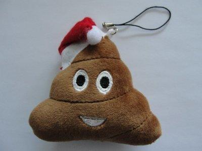 Emoji Poop Santa Ornament
