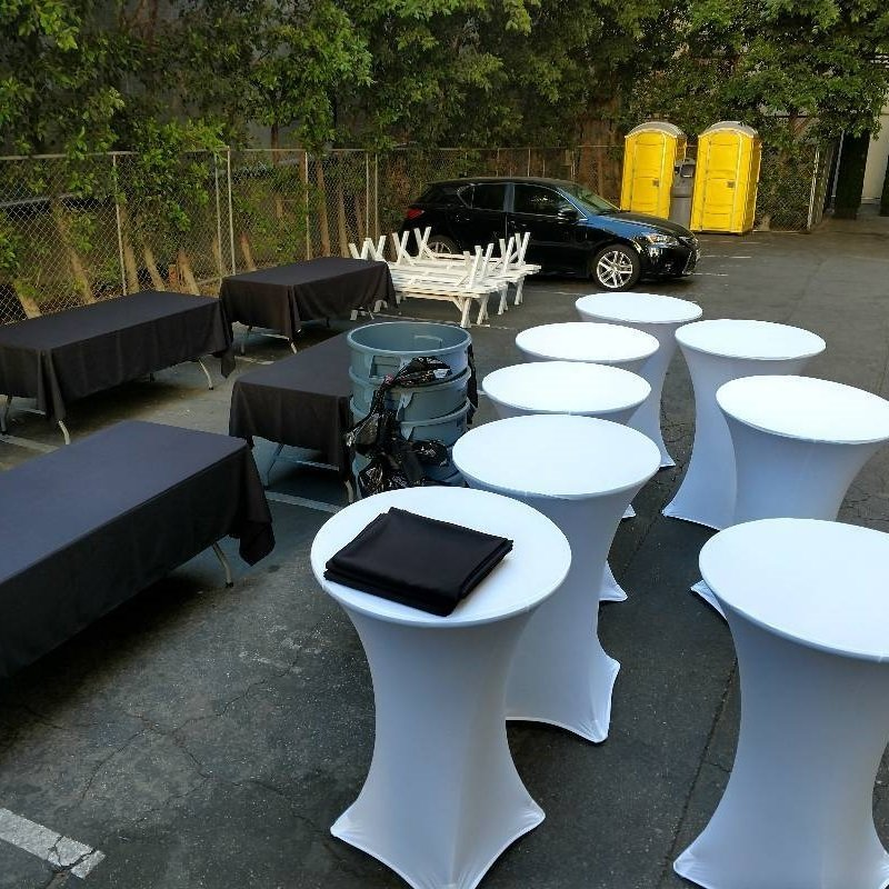 30\  Round Highboy Spandex Table Cover Rental & Spandex Table Covers | Cocktail Table Cover Rentals