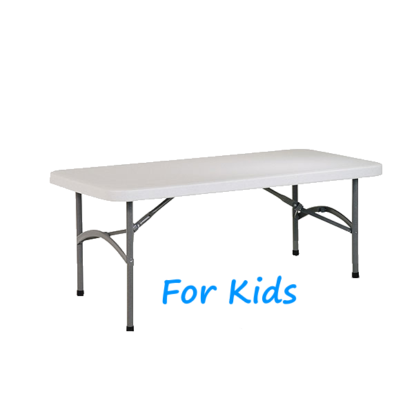 Kids 4u0027 Rectangular Resin Table Rental