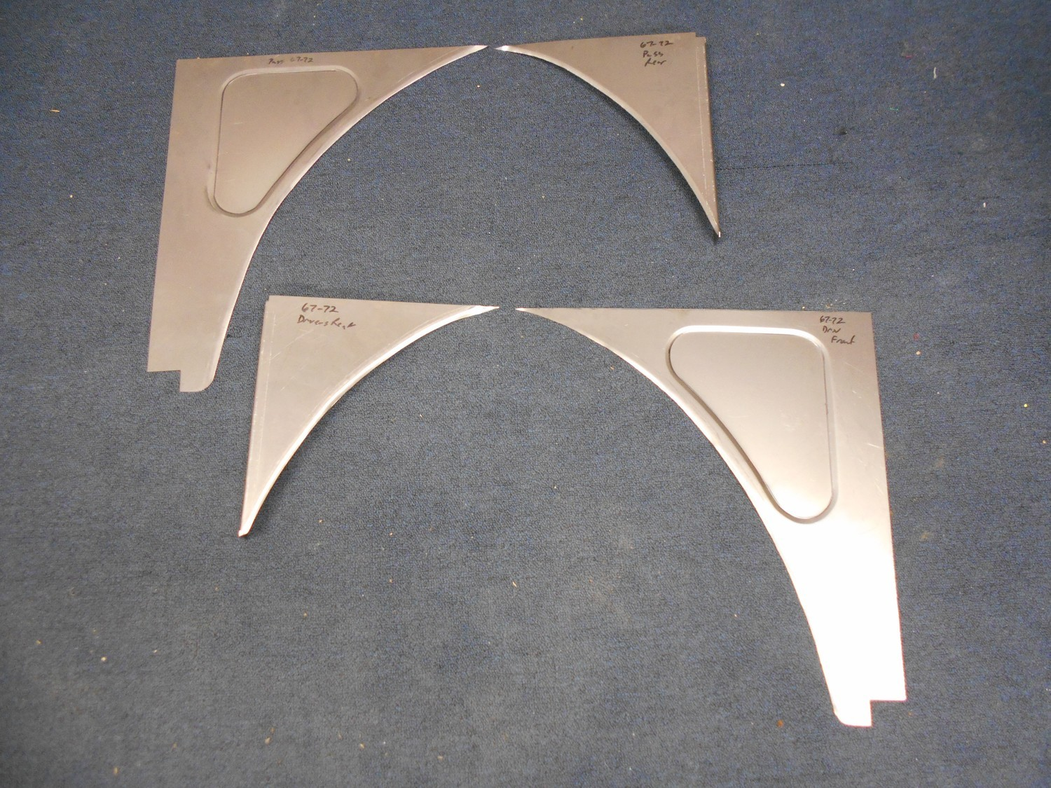 Inner Fender Filler Panels (Slosh Tubz) - 1967-72
