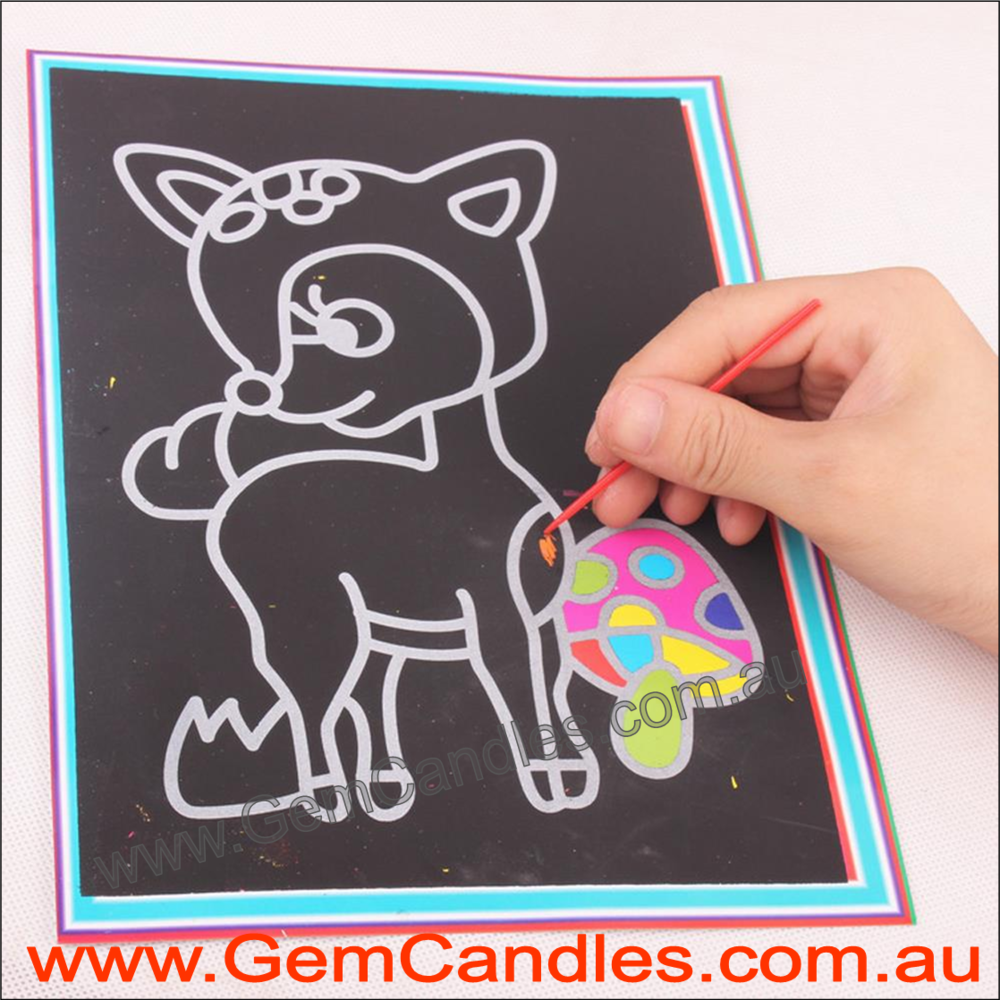 Child Scratch Art - Various Designs