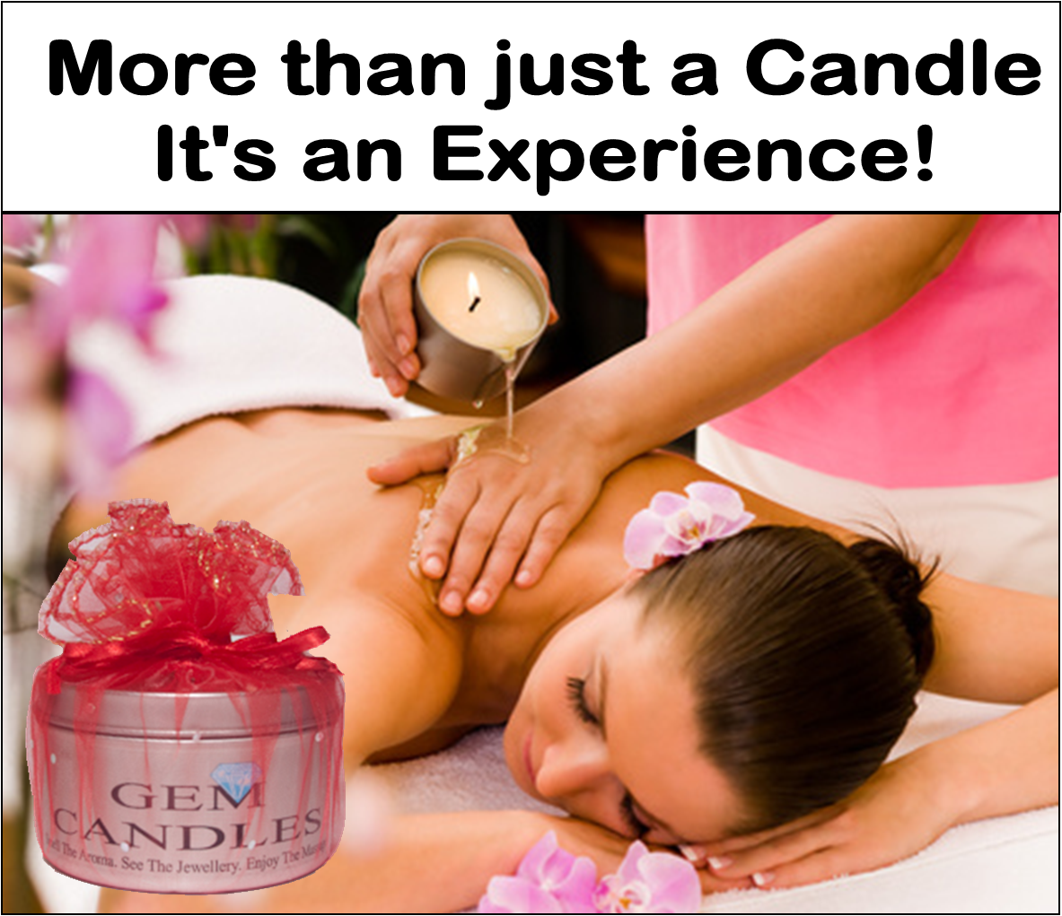 Massage Jewellery In a Candle - Strawberry