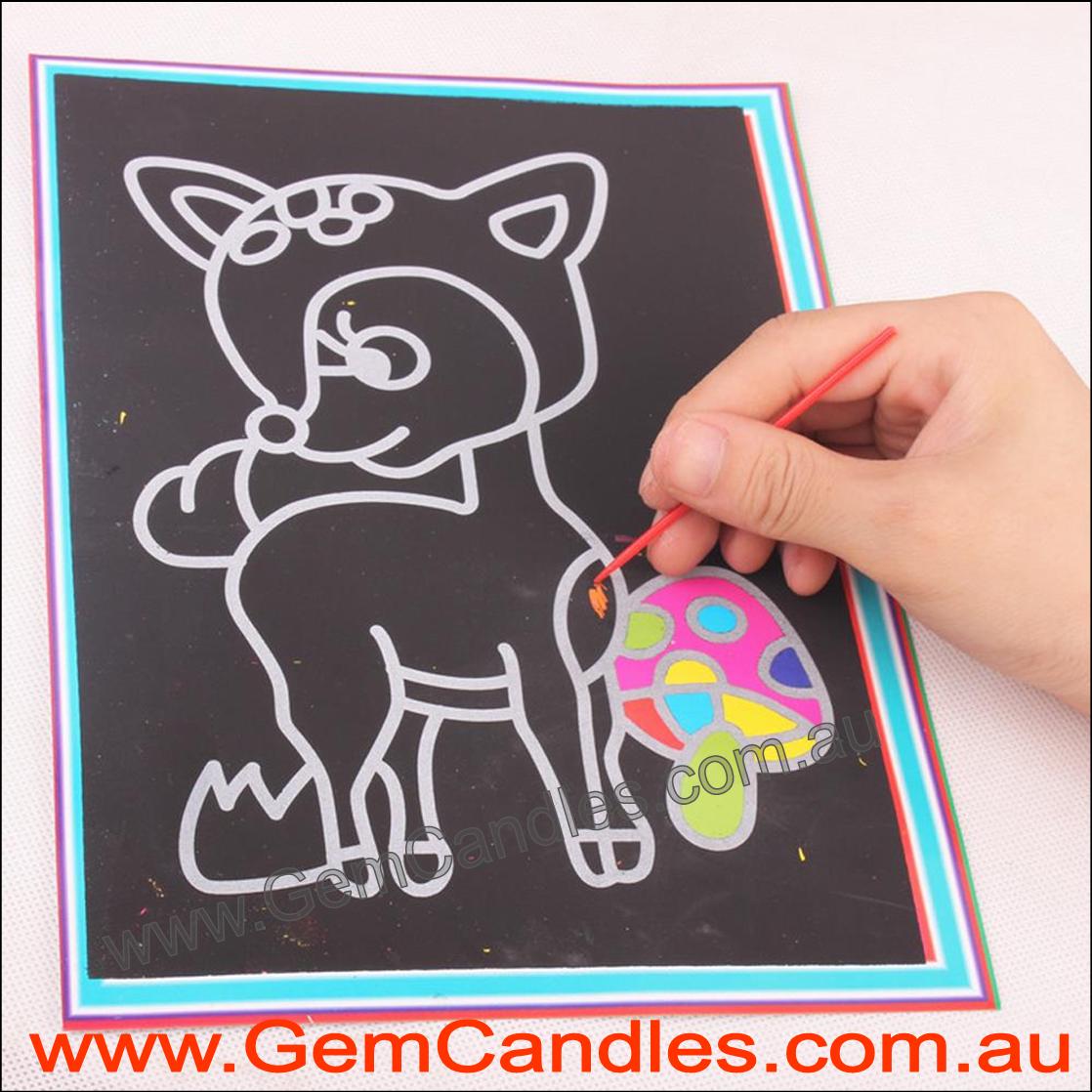 Child Scratch Art - Various Designs