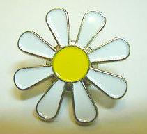 Enamel Daisy badge