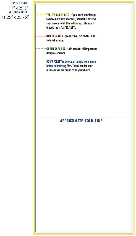 Brochure 11 x 25/5 Half Fold Template