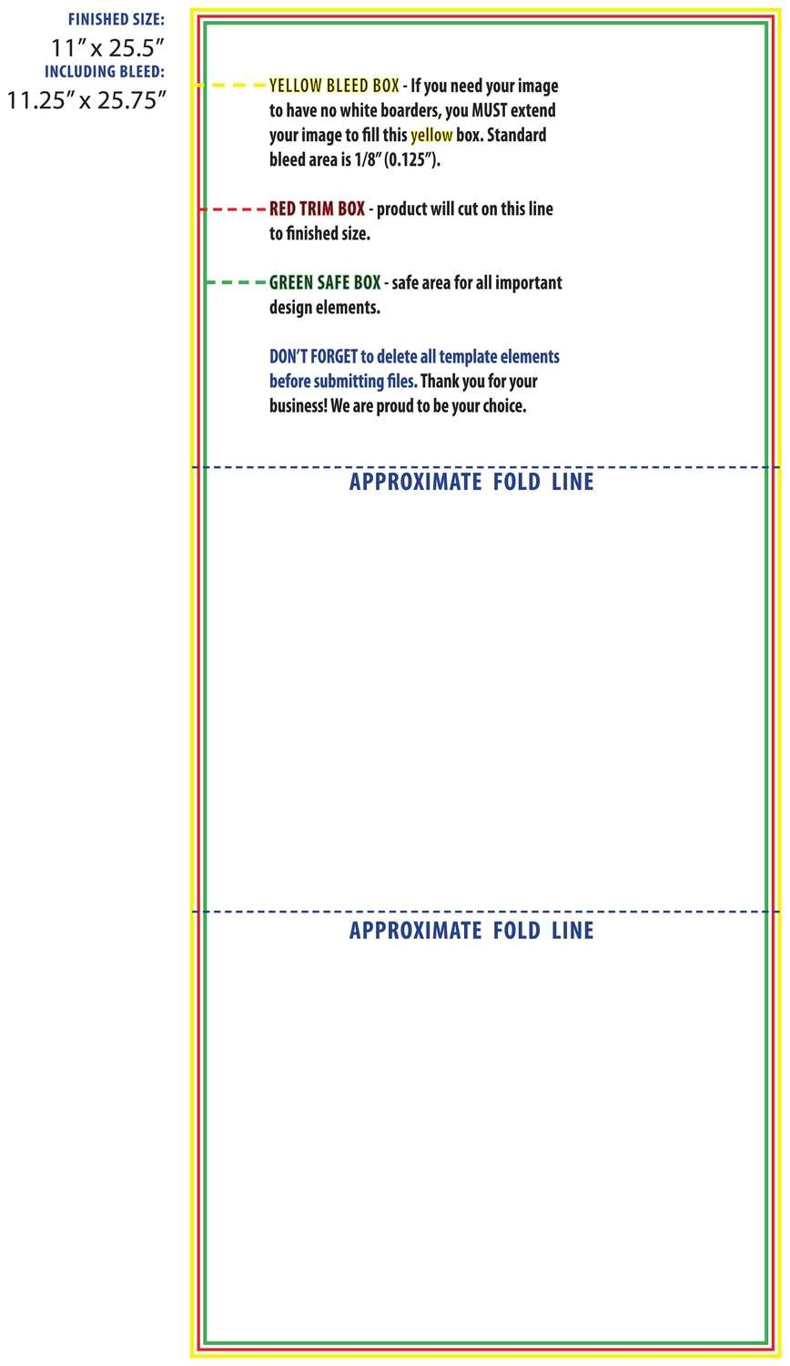 Brochure 11 x 25.5 Trifold Template