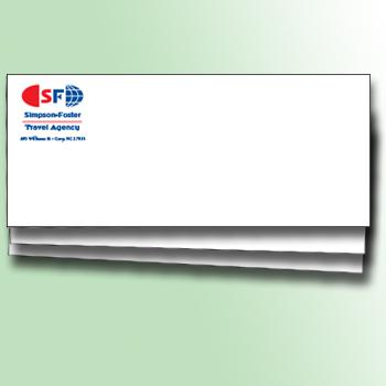 1 or 2 Color 24# White Envelopes