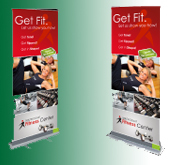 Retractable Banner with Display