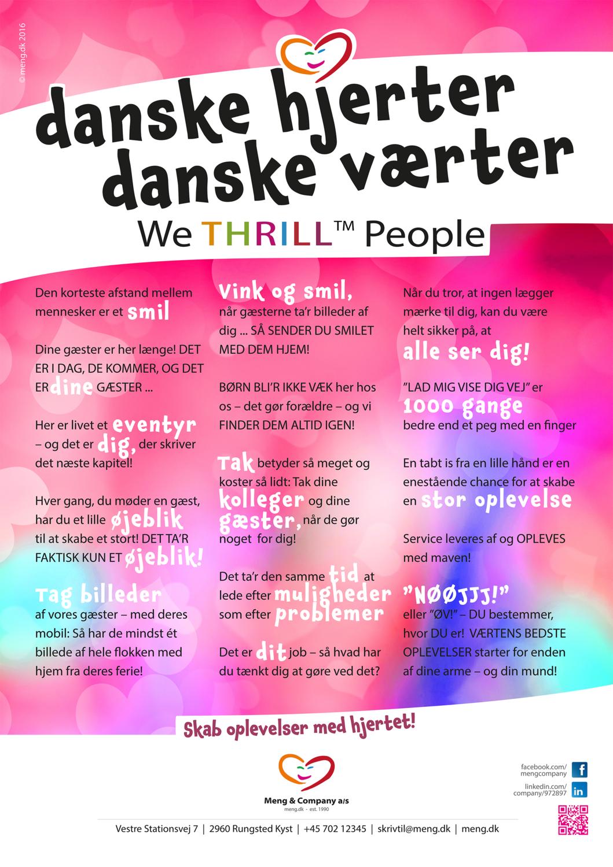 Plakat - Danske hjerter - danske værter