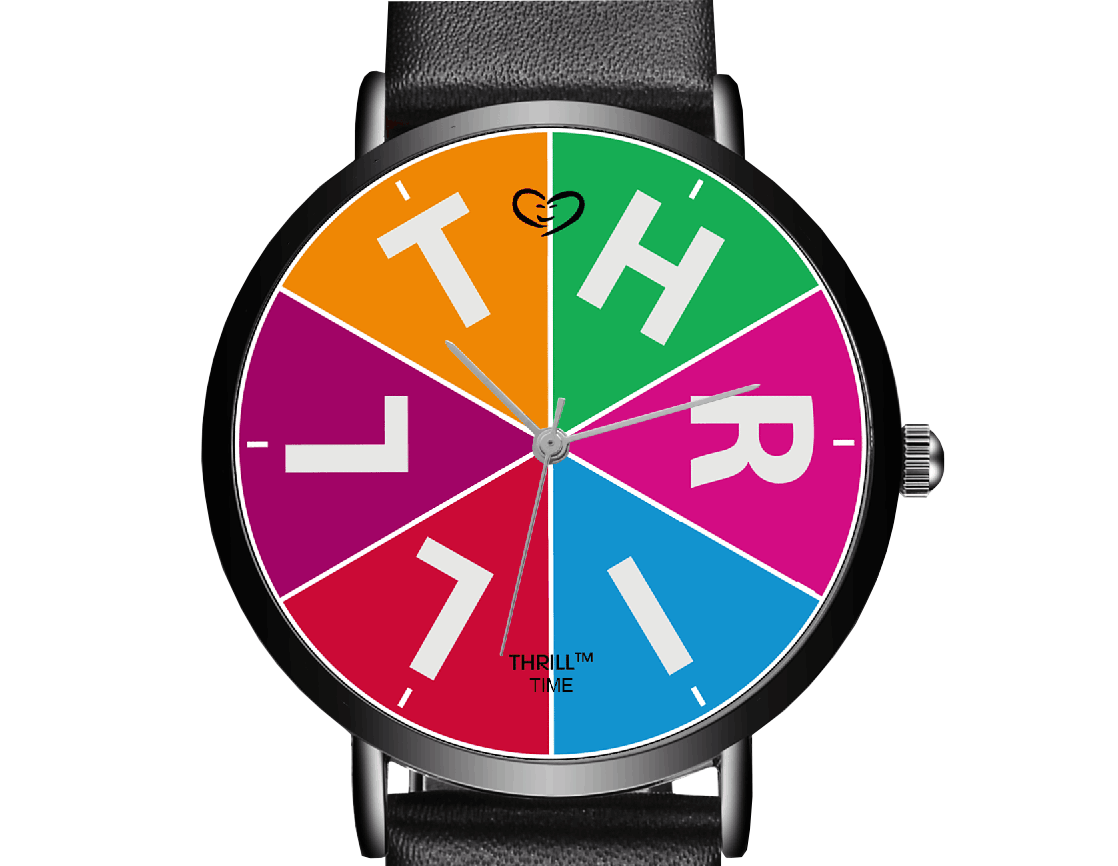 THRILL™ Time armbåndsur - farvet urskive