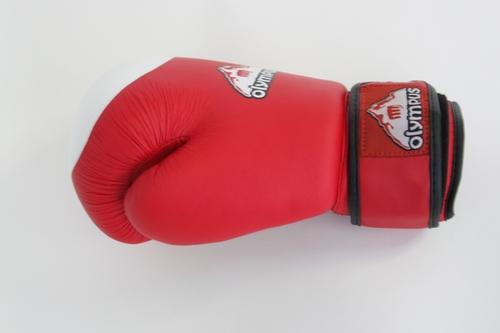 """Перчатки боксёрские """"олимпус"""". Цвет: Красно-белый"""